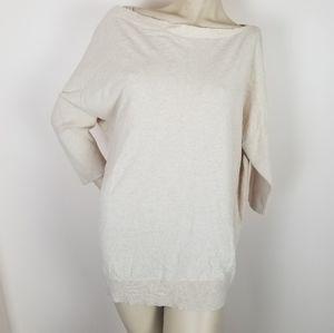 Moth anthropologie cotton cashmere blend sweater